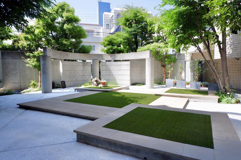 マンションの中庭をリガーデン